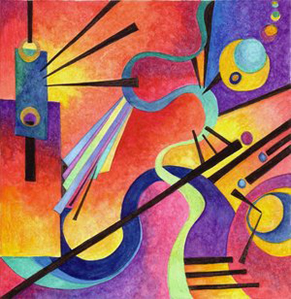 Kandinsky freudian slip oscar van dillen for Artists who use shapes in their paintings