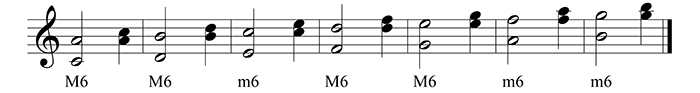 basic tone sixths with inversions