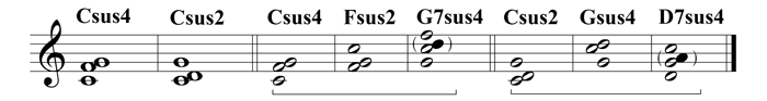 example 33 - suspended chord tones