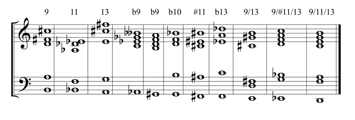 example 34 - chord extensions